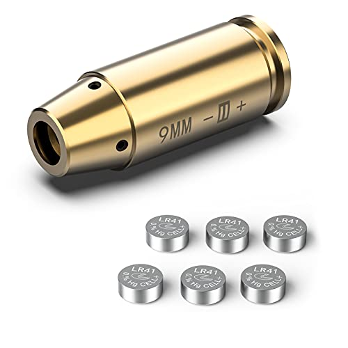 Feyachi Bore Sight 9mm Red Laser Zeroing Boresighter with...
