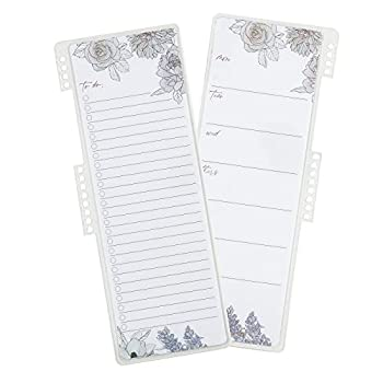 Snap-in to-Do List Dashboard in Flora Double-Sided Wet-Erase Dashboard You can Snap Into Your Coiled Planner or Binder Tackle to-Dos and Track Tasks in Style by Erin Condren