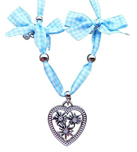 OS02 Exclusives Dirndl Accessoire, Halskette passend zum Dirndloutfit, Farbe Blau