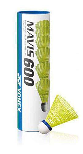 YONEX K-REY-YX600Y Mavis 600 Federbälle, 6 Stück, Gelb, Schwarz, Einheitsgröße