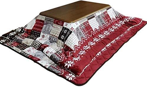 JISHIYU Sala de Estar de Invierno Mesa de calefacción Estufa de Madera Mesa de Calentamiento Estufa Rectangular Mesa de Calentamiento (Color: Rojo, Tamaño: 80 * 120 cm)