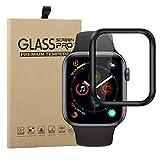 Young & Ming Vetro Temperato Compatibile per Apple Watch Series 5 44mm [3D Curved Edge to Edge], Anti-Graffio, Bubble Free per Apple iWatch 44mm Series 5