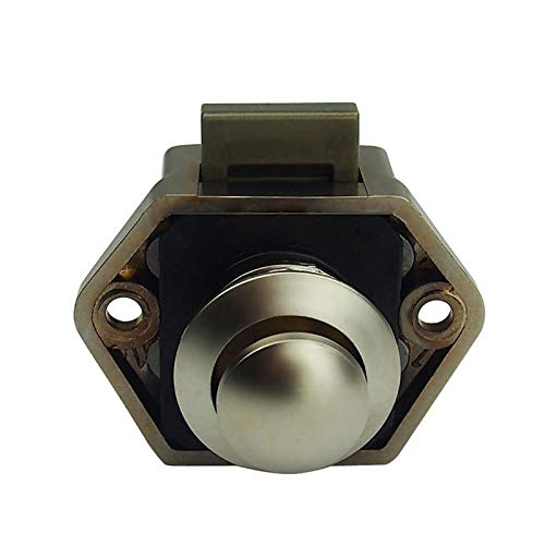 LULIJP Rarelock 5pcs / Lot del ABS de níquel Push Button RV/Caravana/Barco/Autocaravana/Armarios botón de Bloqueo ZS01 PN-AA