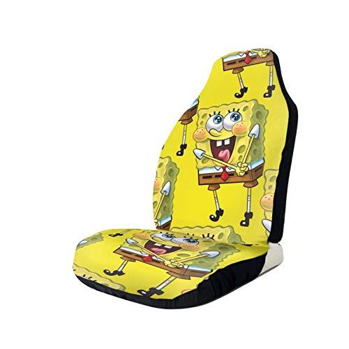 Sponge-Bob Squarepants Printed Car Seat Covers Front Seat Protector Cover for Most Car,SUV Sedan & Truck
