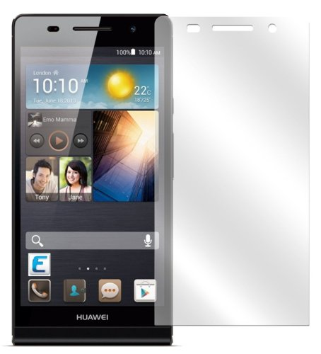 Ecultor I 6X Schutzfolie klar passend für Huawei Ascend P6 Folie Bildschirmschutzfolie