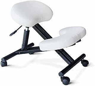Silla ergonómica FW blanca kneeling oficina con apoyo para las rodillas