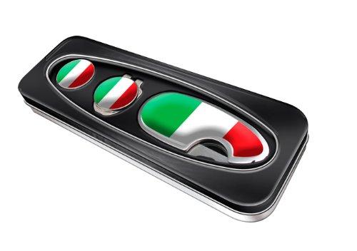 Asbri Golf, Confezione Regalo con Accessori da Golf: Solleva-Pitch, Clip per Berretto e segna Palla, Italia (Italy), Taglia Unica