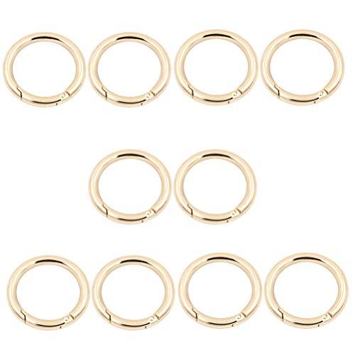 MUCHENG 10 Stück O-Ring Runde Feder Tor Karabiner Snap Clip Trigger Feder Schlüsselanhänger Schnalle Federspule