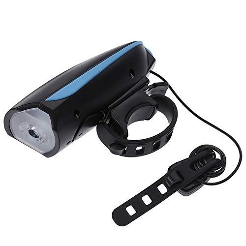 Luz Ciclismo Stevo Aprobado USB 5 Modos Ultra Brillante Cola Luces Traseras Y 3 Modos For Bicicleta Luz Delantera con 120db Cuerno De Bell 10.13a (Color : As Showing)