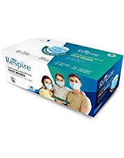 RESPIRE 3-Ply Disposable Face Mask with Ear Loops - Premium Quality - Made in U.A.E. (Single Pack)