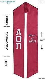 Alpha Omicron Pi Graduation Sash
