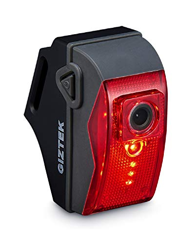 GIZTEK Rear Bike Light Camera Combo, 1080P Full HD, Built-in Rechargeable Battery, 32GB Memory Card Included, Rear Cycling Dashcam with Tail Light