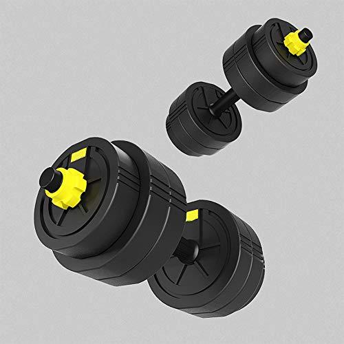 Halters 10 kg Set voor mannen en vrouwen Barbell Milieubescherming Halter Verstelbare haltergewichten Set, met drijfstang Kan worden gebruikt als halter (5 kg * 2)