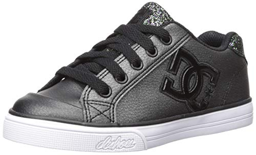 DC Girl's Youth Chelsea SE Skate Shoes Sneaker, Black Multi, 10.5 M US Little Kid