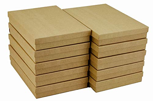 JPB Recycled Kraft Cotton Filled Jewelry Box #96 (Pack of 10) 9 inches x 6 inches