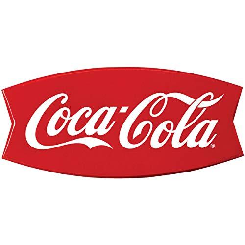 Retro Planet Coca-Cola Fishtail Embossed Look Vinyl Sticker