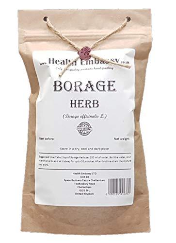 Health Embassy Borretsch Kraut Tee (Borago officinalis L) / Borage Herb Tea, 100g