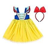 AISHANGYIDE Disfraz de Blancanieves para Niña Vestido de Princesa Ropa de Verano Vestido de Cumpleaños Disfraz de Halloween Carnaval Disfraz de Cosplay