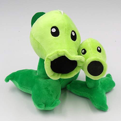 TavasHome Plants VS Zombies 2 PVZ Figures Plush Toys Set,Stuffed Soft Game Doll - Normal Peashooter and A Baby Peashooter