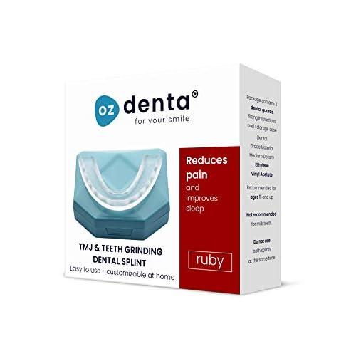 2 x Bite Dentale Notturno Automodellante anti Bruxismo Byte Apparecchio Digrignare i denti e disturbi dell' ATM