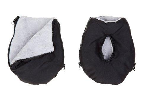 Altabebe AL2801-12 Handmuff-Handschuhe für Kinderwagen, schwarz - hellgrau