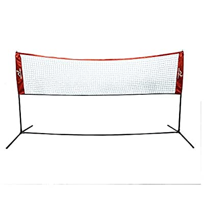 Woodworm 10ft x 5ft Portable Sports Net - Great for Badminton, Volleyball,Tennis and More