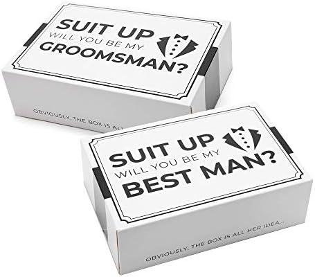Groomsmen Box I Groomsman Gift I Groomsmen Proposal Box Groomsmen Gift Box Set Will You Be My product image