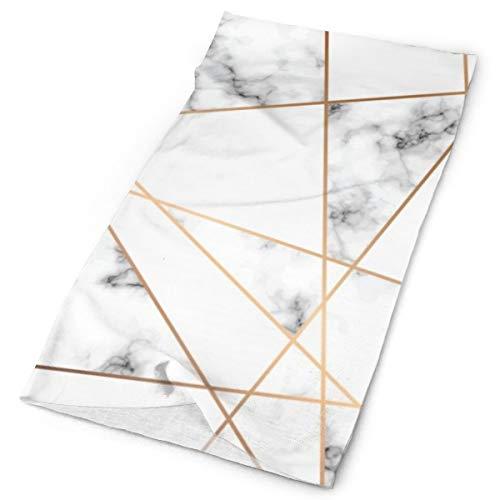 Conception Texture Marbre Lignes Geometriques Dorees Surface Persillage Noir Blanc Tocado multifuncional elástico para el cuello al aire libre transpirable protección UV rostro escudo calentador de la cara pulsera para todo el año