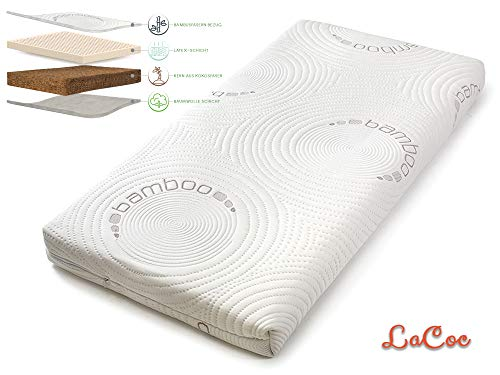 Kids en babymatras Kokos latex, orthopedisch matras babybed, matras is voor baby's en peuters, matrashoes bamboe 60x120