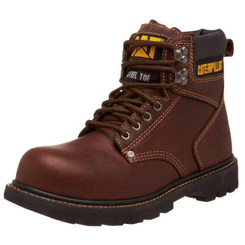 Caterpillar Men's Second Shift Steel Toe Work Boot, Tan, 10 M US