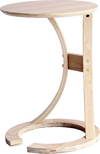 市場 サイドテーブル Lotus 幅43x奥行45x高さ54cm ナチュラル 手元まで寄せることができるデザイン ILT-2987NA