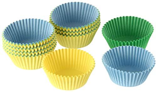 Dr. Oetker Papier-Backförmchen Ø 3 cm, bunte Muffinförmchen aus Papier, Förmchen für Cupcakes, Muffins und Pudding, Farbe: gelb/grün/blau (Menge: 180 Stück)