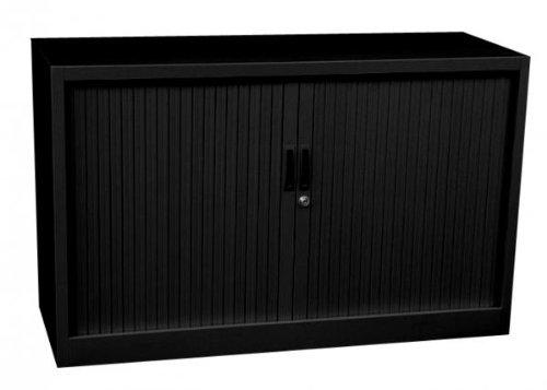 Querrollladenschrank Sideboard 120cm breit Stahl Büro Aktenschrank Rollladenschrank Black 555129 (HxBxT) 750 x 1200 x 460 mm kompl. montiert und verschweißt