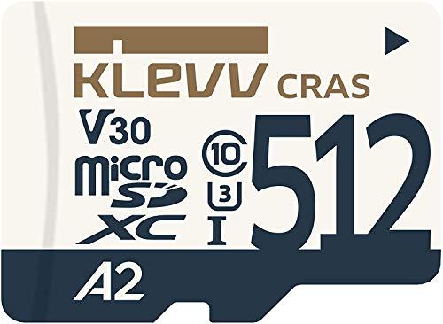 エッセンコアクレブ KLEVV microSDXC 512GB UHS-I U3 V30 A2 最大読込 100MB/s 4K対応 K512GUSD6U3-CA