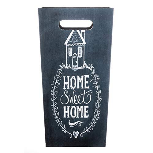 Rebecca Mobili Porta ombrelli vintage, portaombrello grigio scuro, homesweet home, arredo casa - Misure: 37 x 20 x 20 cm (HxLxP) - Art. RE6149