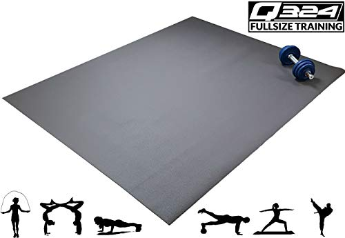 Q324 Jump – 160x120 – rutschfeste, extra große Fitnessmatte für Zuhause – in Natur Braun - XXL Premium Sportmatte für Pilates, Yoga, Homeworkout und mehr - Rollbare Gymnastikmatte