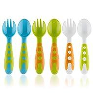 Toddler Utensils Baby Spoons & Baby Forks Set with Baby Utensils CASE | Toddler Fork & Toddler Spoon Silverware Cutlery Set | Baby Spoon and Baby Fork Set
