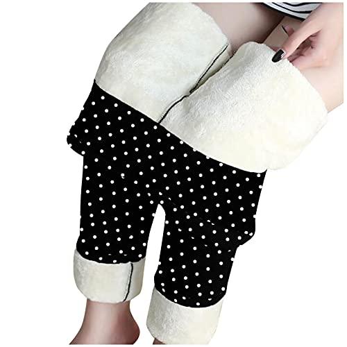 Leggings de Navidad para mujer con forro térmico, pantalones térmicos: muy gruesos, cómodos, cálidos, de invierno, para yoga.