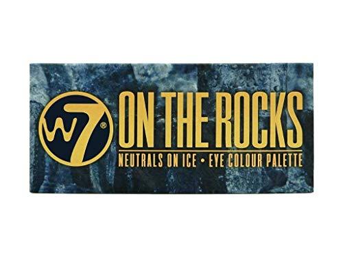 W7En Las Rocas Naturals sobre hielo ojos paleta de colores, 11.2g, juego de 14
