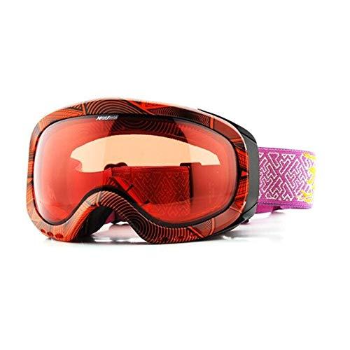 Chunjiao Lente de transición PhotoChromic Ski Snowboard Snow Goggles Anti-Niebla UV Protección Todos los Clima Visión Nocturna Sunny Day Hombres Mujeres Gafas de esquí (Color : C5)