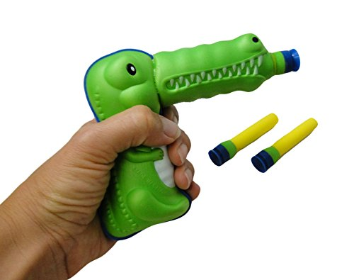 Product Image of the Curious Minds Busy Bags Crocodile Alligator Soft Suction Dart Play Gun Toy -...