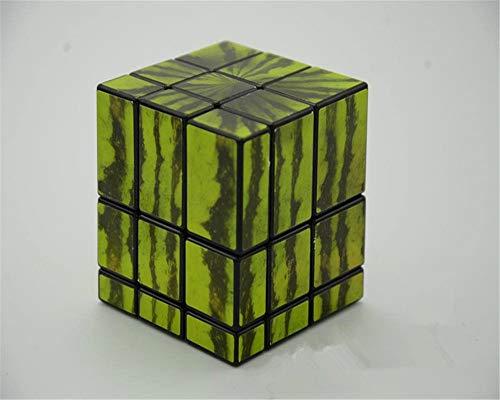 Best Ning Cubo de Velocidad Negro sandía Espejo Cubo de Rubik Espejo de Tercer Orden Cubo de Rubik en Forma de Juguete Educativo de Tercer Orden de los niños