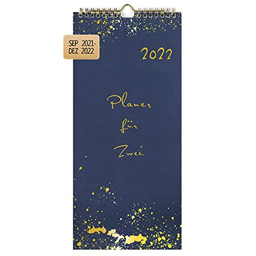 KOHMUI Planer für Zwei 2022 zum Selbstgestalten, Du + Ich Paarkalender 2022 mit 3 Spalten, Wandkalender für Paare, Kalender für 2, Partnerkalender zum Aufhängen, Geschenkidee für Freundin oder Freund