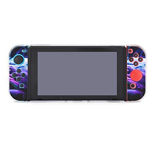 Bunte Flip-Flops kompatibel mit Nintendo Switch Konsole & Joy-Con-Schutzhülle, langlebig, flexibel, stoßdämpfend, kratzfest, Fallschutz, Schale Design5615