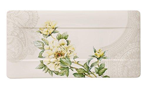 Villeroy & Boch Quinsai Garden Servierteller 44x23cm Premium Bone Porzellan
