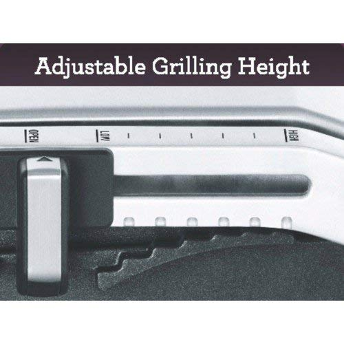 Sage BGR250BSSUK the Adjusta Grill and Press - Silver