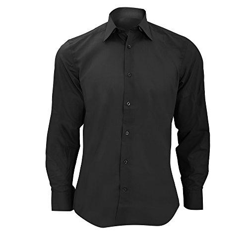 Russell Collection Mens lange mouw Poly-Katoen Gemakkelijk zorg op maat Poplin Shirt