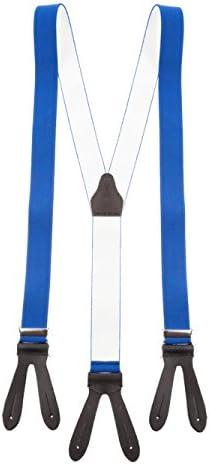 shenky - Tirantes de cuero - Con 6 ojales para botones y sin clip - Forma de Y griega - Para disfraces y fiestas - Varios motivos