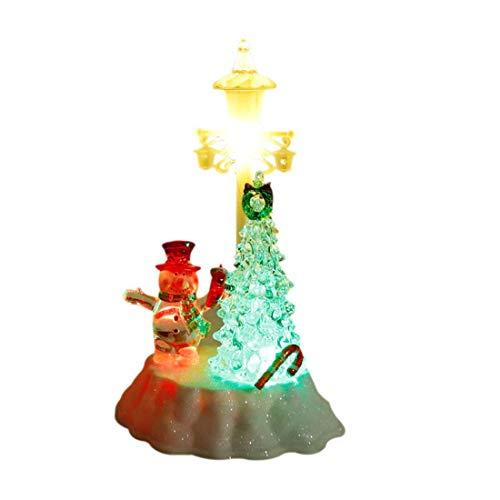 Acryl Tischlampe 7 Farbwechsel Licht Warm Dekoration Straßenlaterne Weihnachtsbaum Schneemann Form Nachtlicht Batterie romantisch Kippschalter Festival Geburtstag führte 13,5 * 12 * 21cm liuchang20