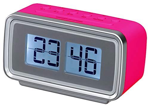 Silva Schneider UR 2400 Retro UKW Radiowecker Alarm Snooze Sleep Funktion pink